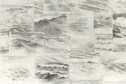 Ragnar Kjartansson, 41 Raging Pornographic Sea Drawings 2  (detail) via New Museum