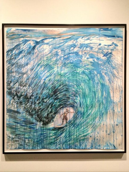 Raymond Pettibon, No Title (Something Approaches There) (2001), via Art Observed