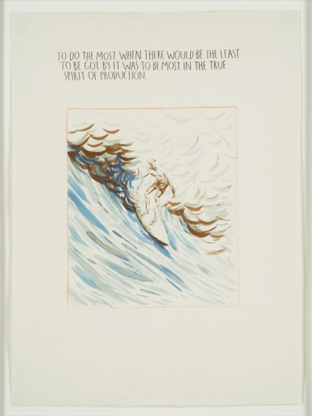 Raymond Pettibon, No Title (To do the) (1990), via Venus Over Manhattan