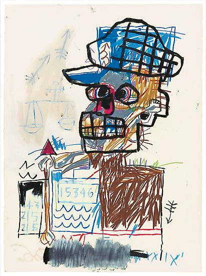 Basquiat, Jean-Michel. Untitled (Scales of Justice) 1982. The Schorr Family Collection, Art Ⓒ The Estate of Jean-Michel Basquiat / ADAGP, Paris / ARS, New York 2014.