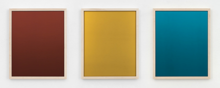 Sherrie Levine, Red, Yellow, Blue Mirrors 1-3: Suite I (2014), via Paula Cooper