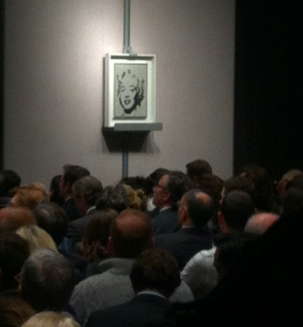 The White Marilyn sells at Christie's, via Art Observed