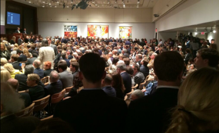 The view at Christie's, via Art Observed