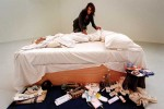 "Tracey Emin installs ""My Bed,"" via Art Newspaper"