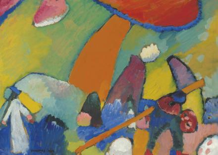 Wassily Kandinsky, Strandszene (1909), via Christie's