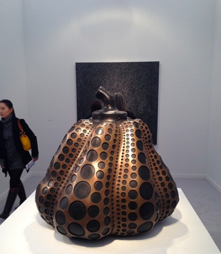 Yayoi Kusama at Victoria Miro, via Art Observed