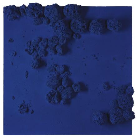 Yves Klein, Rélief Éponge Bleu (re 51) (1959), via Sotheby's