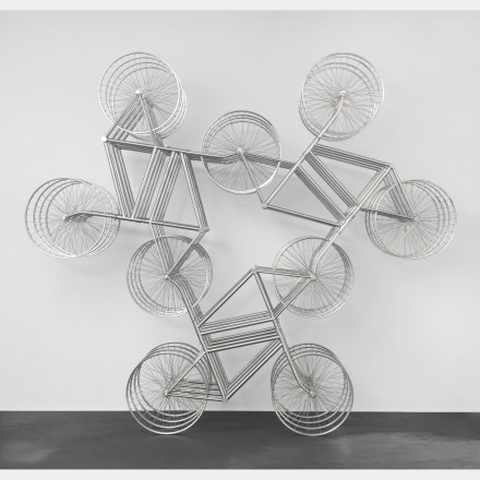 Ai Weiwei, Forever (Stainless Steel Bicycles in Silvery) 3 Pairs 4 Layers (2013) via neugerriemschneider