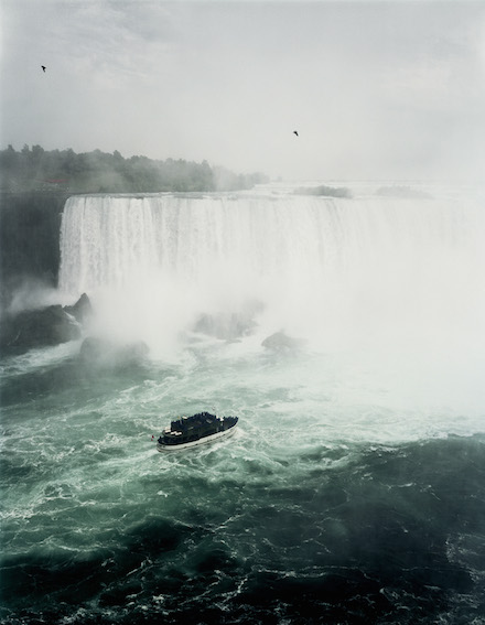 Andreas Gursky, Niagara Falls (1989) C-Print / Diasec, 109 3/4 x 87 x 2 3/8 in (framed), Copyright: Andreas Gursky / DACS, 2014, Courtesy Sprüth Magers Berlin London
