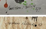 "Comparison of a Pollock original with a ""Pollok"" via New York Times"