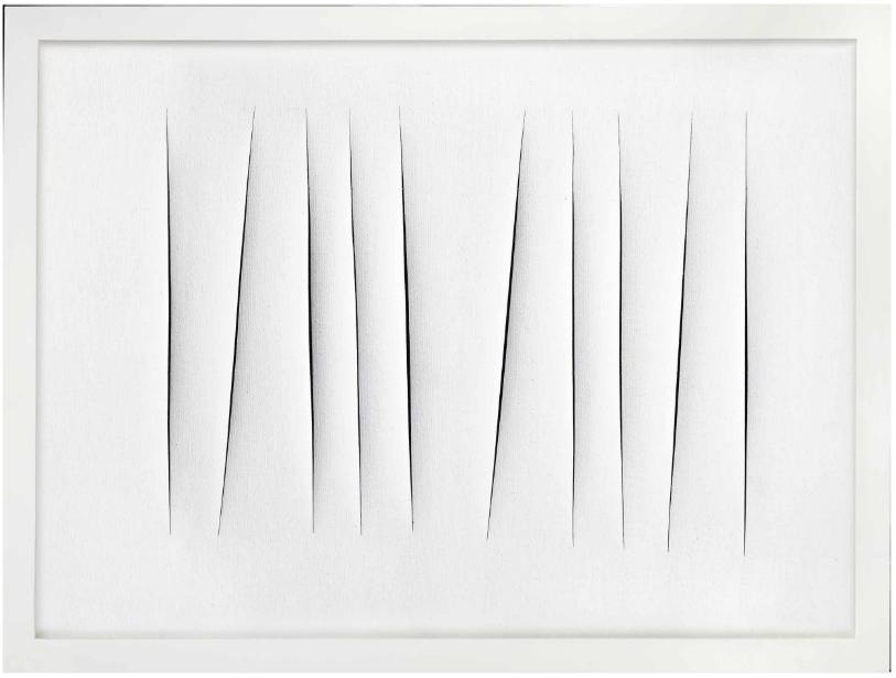 Lucio Fontana, Concetto Spaziale, Attese via Christie's