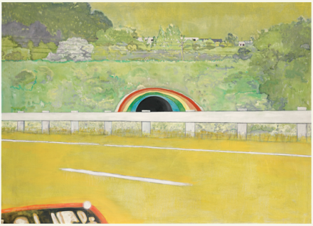 Peter Doig, Country-Rock (Wing-Mirror) via Sotheby's