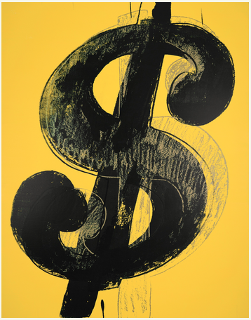 Andy Warhol, Dollar Sign, via Sotheby's