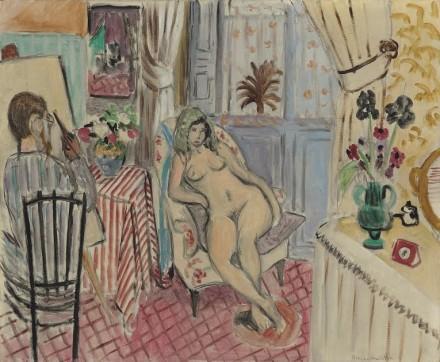 Henri Matisse, L'artiste et le modèle nu (1921) via Christie's