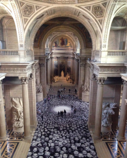 JR, Au Pantheon! via Andrea Nguyen for Art Observed