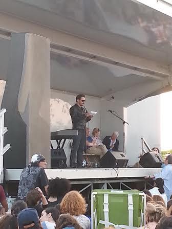 James Franco Reads Walt Whitman during Rockaway! Festival, via Art Observed