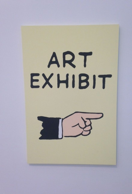 Jayson Musson, Art Exhibit Sign (2014), via Osman Yerebakan
