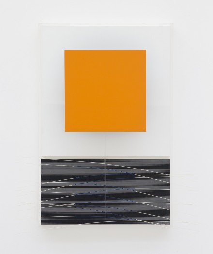 Jesús Rafael Soto Orange et virtuel bleu (1992), via Perrotin