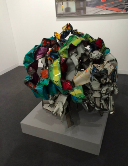 John Chamberlain at Waddington Custot, via Art Observed