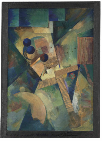 Kurt Schwitters, Ja - Was? - Bild (1920), via Christie's