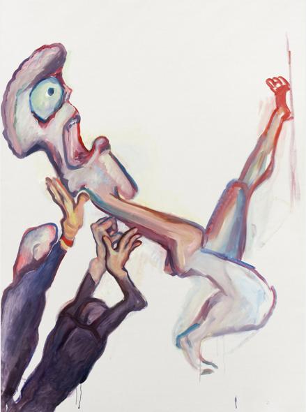 Maria Lassnig, Assistance (2008) via Petzel Gallery