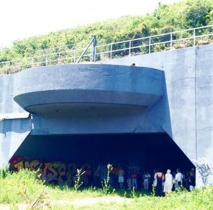 One of Adrián Vilar Rojas's works installed in the Rockaways, via Art Observed