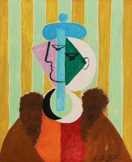 Pablo Picasso, Portrait de Femme (1937) via Sotheby's