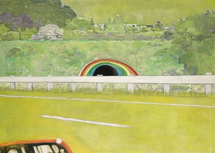 Peter Doig, Country-Rock (Wing-Mirror), via Sotheby's