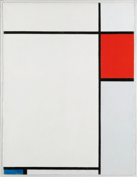 Piet Mondrian, Composition with Red, Blue and Grey (1927), via Sotheby's
