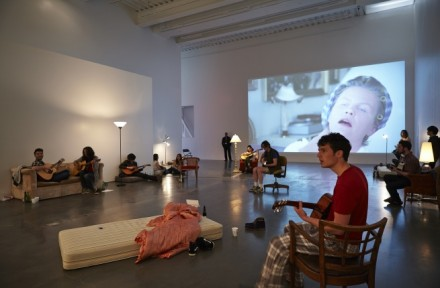 Ragnar Kjartansson, Take Me By the Dishwasher (Installation View), New Museum Photo Benoit Pailey 1