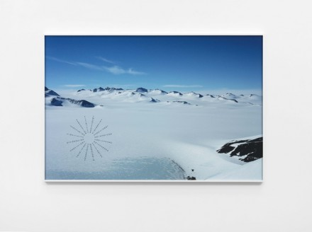 Richard Long, Antarctic Footprints (2012), Lisson Gallery