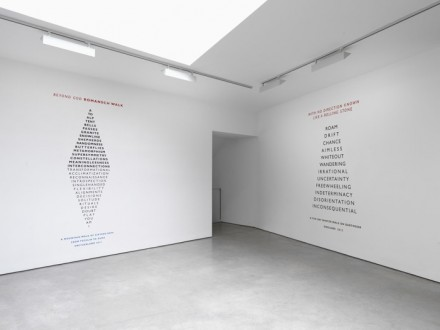 Richard Long, exhibition view, Lisson Gallery