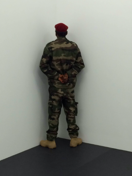 Santiago Serra, Veterans of the Wars of Eritrea, Kosovo and Togo Facing the Corner (2014) for Art Unlimited