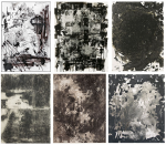 Six similar abstract paintings by six different artists, via NY Mag