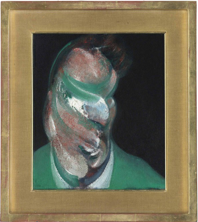 Francis Bacon, Study for Portrait of Lucian Freud, via Christie's