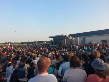 The crowds at Rockaway! Festival, via Art Observed