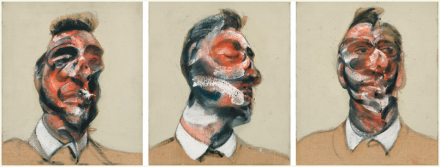 Francis Bacon, Three Studies for Portrait of George Dyer, via Sotheby's