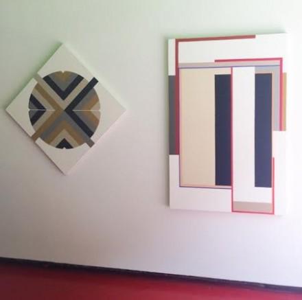 Two works by Elaine Lustig Cohen, via Art Observed