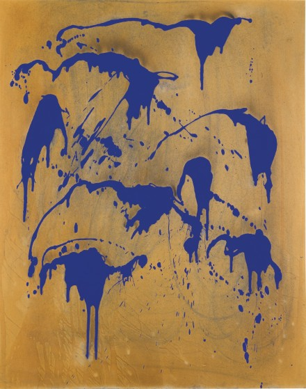 Yves Klein, Untitled Fire Coulour Painting (FC 28) (1962), via Sotheby's
