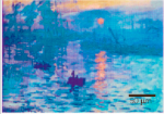 "A nanoprinted verision of Monet's ""Impression, Sunrise"", via Wired"