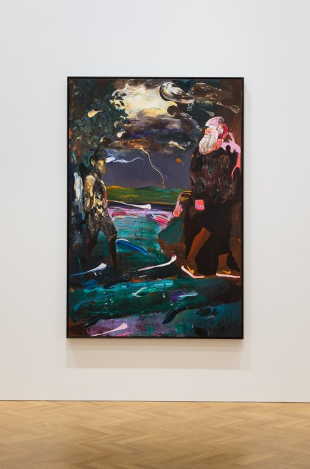 Adrian Ghenie, Darwin and the Satyr, 2014 ©Adrian Ghenie Courtesy of The Pace Gallery