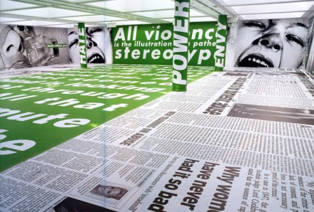 Barbara Kruger (Installation View), all images courtesy Modern Art Oxford