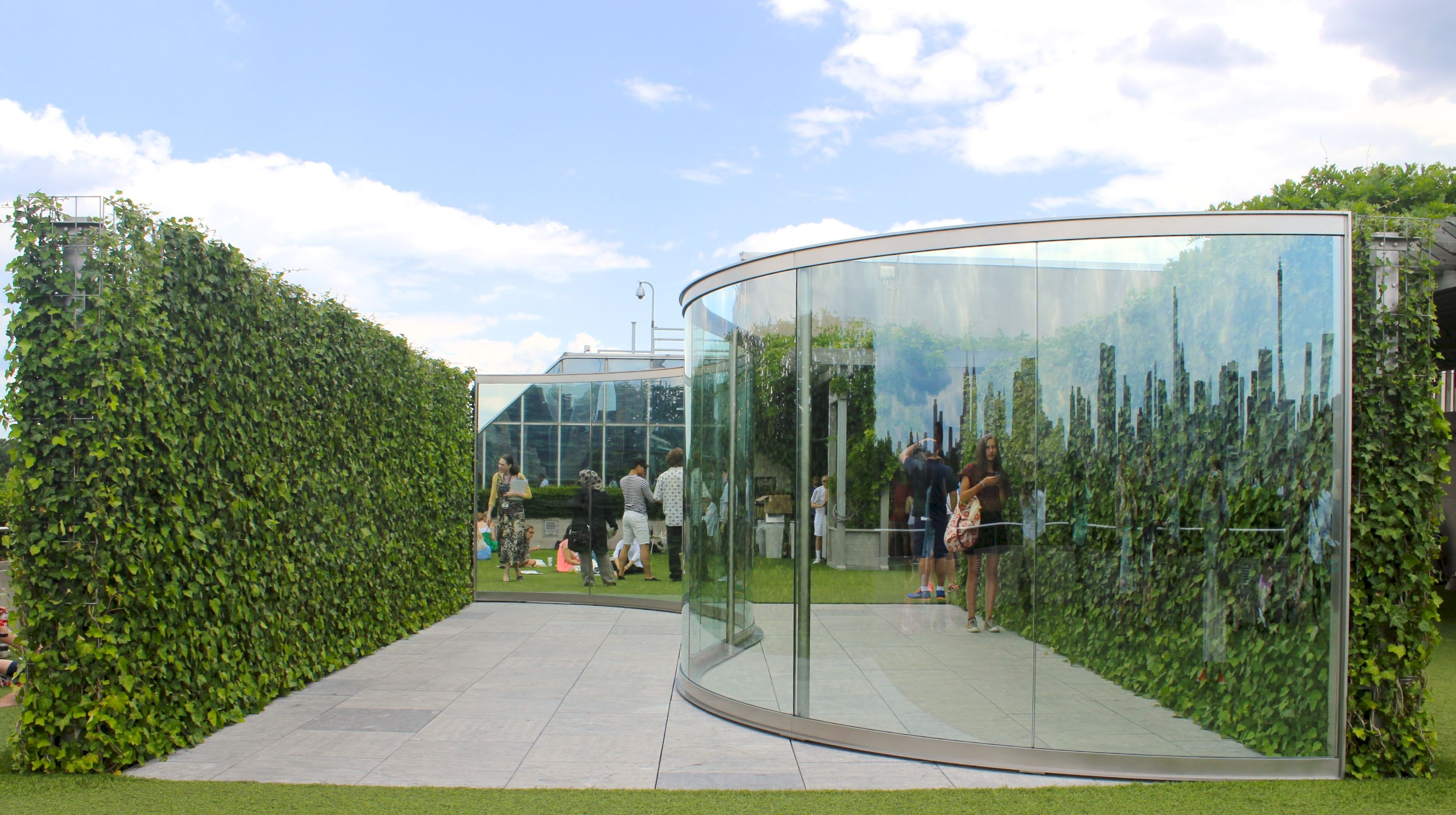 Roof Garden Metropolitan Museum Of Art Part - 28: Dan Graham, Hedge Two-Way Mirror Walkabout (2014), All Images Via