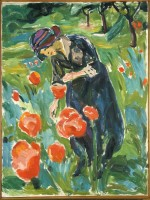 Edvard Munch, Woman with Poppies, via NYT