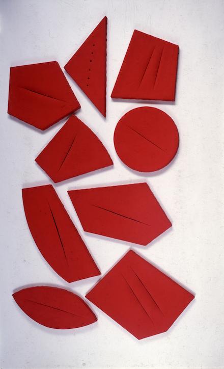 Lucio Fontana, Concetto spaziale, I quanta (1960)