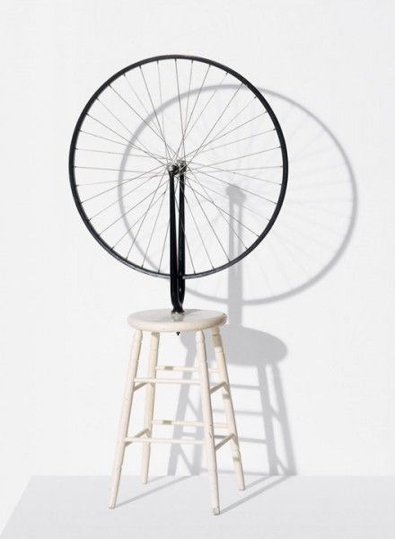 Marcel Duchamp, Bicycle Wheel, (1916/64)  © Succession Marcel Duchamp / ADAGP, Paris / Artists Rights Society (ARS), New York 2014. Courtesy Gagosian Gallery. Photo by Philippe Migeat