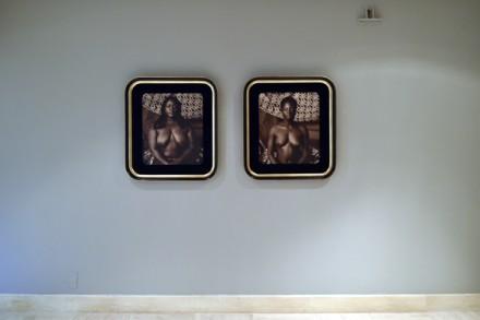 Mickalene Thomas, Femme au divan II (Installation View)
