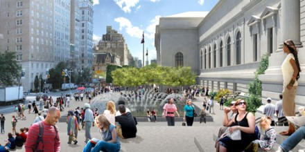 Rendering of the Met's New Plaza, via the Metropolitan Museum