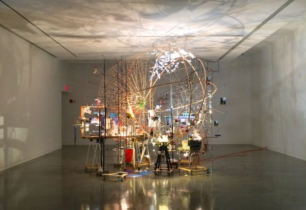 Sarah Sze, Triple Point (Planetarium) (2013), All Images Via Kelly Lee for Art Observed