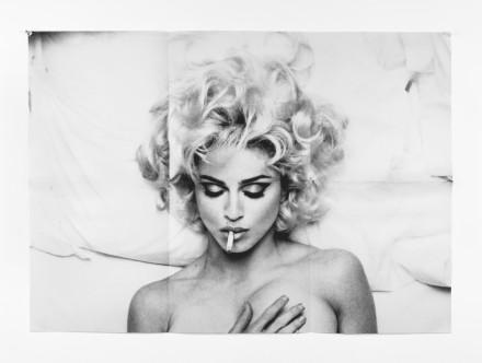 Anne Collier, Folded Madonna Poster (Steven Meisel), 2007